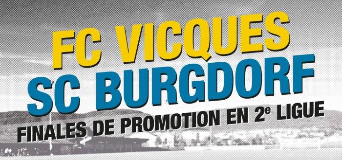 Finales de promotion en 2e ligue : FC Vicques - SC Burgdorf